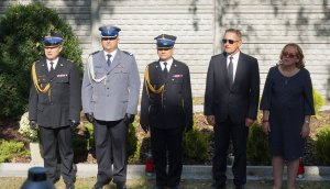 Przedstawiciele służb mundurowych i jednostek samorządowych